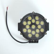 Фара-LED  Круг  51W (3W*17) 10-30V  Ø 163*60mm  Дальний/Spoot (103 51W) (1шт)   3437