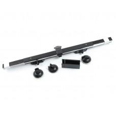 Шторка Выдвижная 150х65см на лобовое стекло солнцезащитная алюминиевая черный Бархат PREMIUM